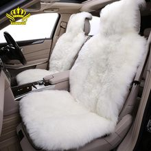 Car-Seat-Cover Sheepskin Lada-Kia Hyundai Volkswagen Luxury Universal Toyota for BMW