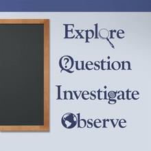Classroom Decals, Explore, Question, Investigate, Observe, Teacher Wall Vinyl Sticker,  Motivation Education Decoration SK55 pre service teacher education