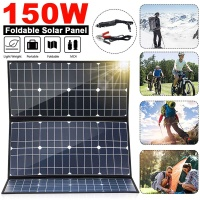 Foldable 150W 18V Solar Panel Monocrystalline Solar Cells 5V USB 12V DC MC4 For Camping/Boat/RV/Travel/Home