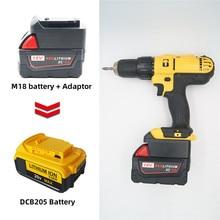 ミルウォーキー M18 18 v バッテリーアダプターに変換 dewalt 18 v/20 v 最大リチウムイオンバッテリー DCB205 DCB2000 電気ドリルツール