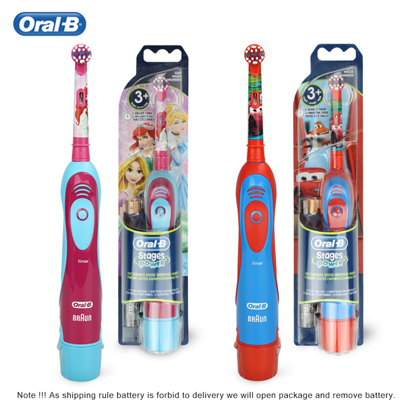 Oral B Kid Electric Toothbrush Soft Brush Head Battery Powered Changeable Brush Head image