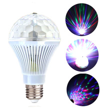 1PC Disco LED Light 3W Colorful Auto Rotating RGB Lamp  Household Party Stage Decor Christmas Wedding Sho