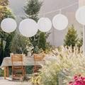 Светодиодный фонарь на солнечной батарее 20/25/30 см, водонепроницаемый декоративный светильник для сада, вечеринки, подвесной праздничный св...