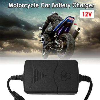 12V Portable Battery Charger For Car Truck Motorcycle Maintainer Trickle Car charger US Plug/EU Plug Battery Quick Charging image