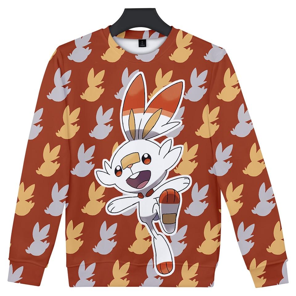 Pokemon Sword and Shield unisex Round Neck Sweatshirt Fashion Trend Style New 3D Polyester  Material Sweatshirt 1