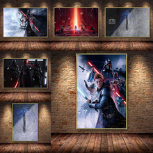 Game Star Wars Jedi Poster Anime HD Oil Painting Canvas Print Cuadros Wall Picture For Living Room Bedroom Decoration