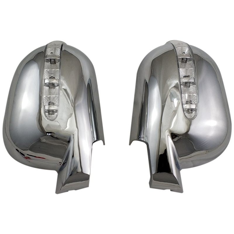 Door Rearview Door Mirror Covers with Led Car Accessories for Mercedes-Benz M-Class W163 ML 1997-2005 ABS Chrome Plated