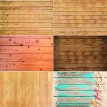 Виниловый фон для фотосъемки с изображением деревянных досок