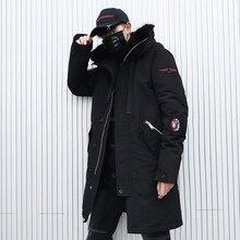 Hip Hop Hooded Parka Camo Thick 2019 Men