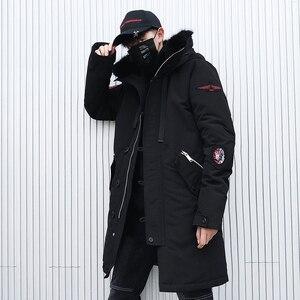 Image 1 - Parka con capucha Hip Hop Camo grueso 2019 hombres