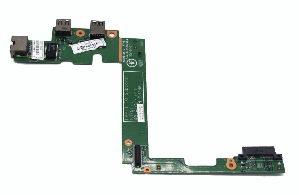 Original For Lenovo ThinkPad T540P W540 W541 USB LAN Ethernet Board Interface Subcard 04X5512 48.4L029.011 48.4L027.011