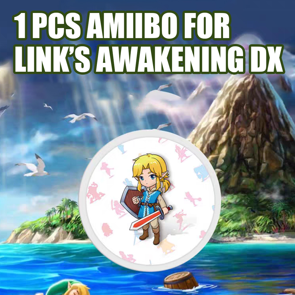 The Games <font><b>card</b></font> of <font><b>amiibo</b></font> Compatible Zelda 23 NFC Round <font><b>Card</b></font> Link Awakening DX the Legend of Breath of the wild NS Nintend <font><b>Switch</b></font> image