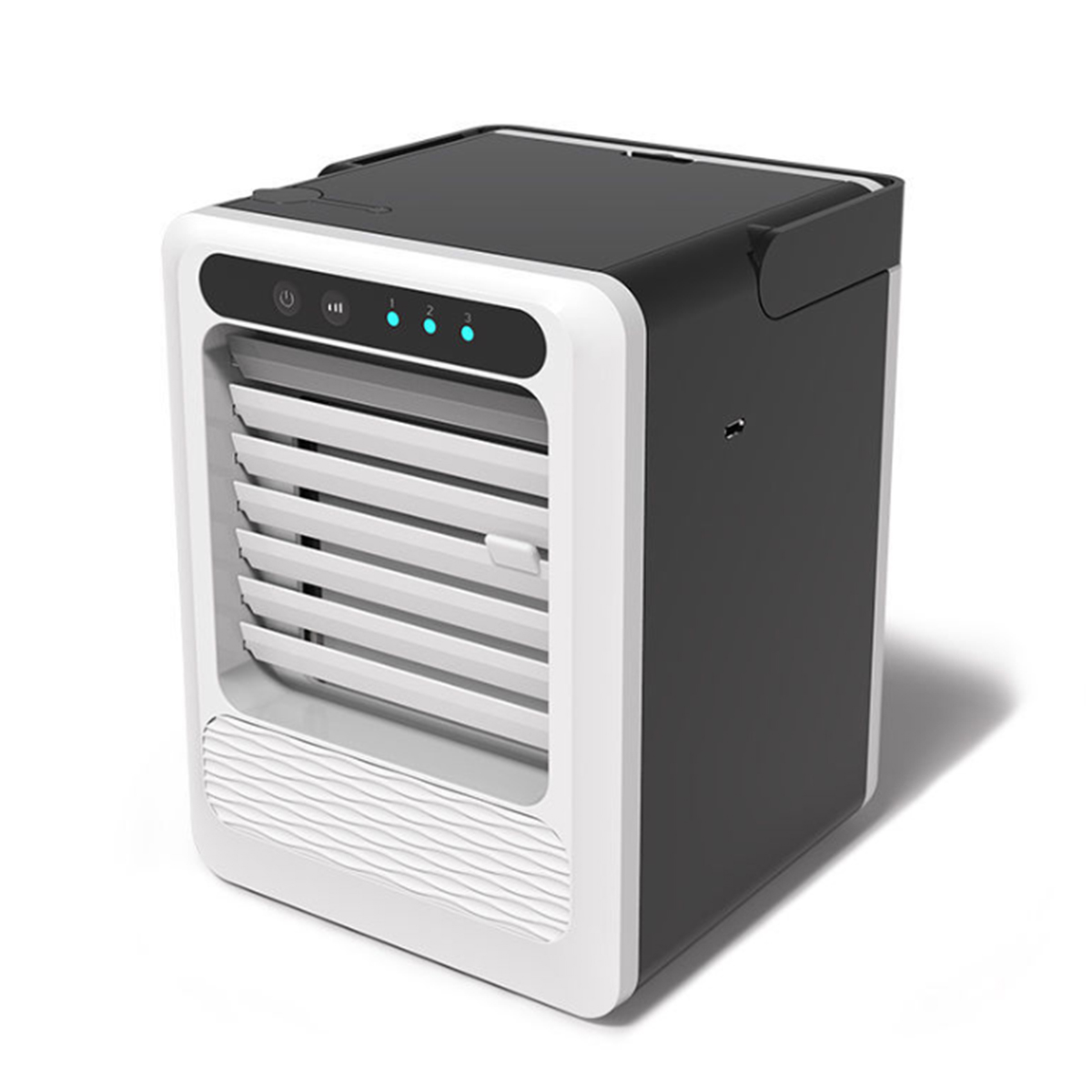 Mini USB Air Conditioner Portable Air Cooler Fan Cooling Humidifier Home Office Desk Air Conditioning 3 Speeds Adjustment