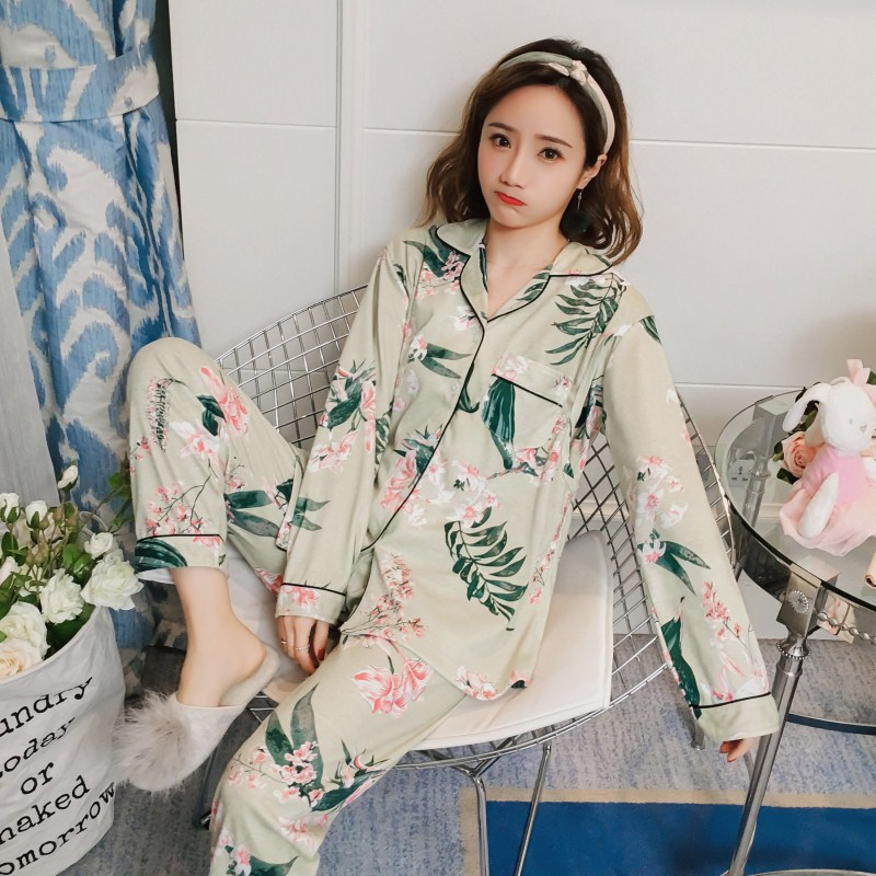 Spring Summer Confinement Clothing Pure Cotton Pregnant Women Pajamas Women's Postpartum Breastfeeding Clothes Spring And Autumn