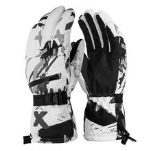 Водонепроницаемые лыжные перчатки для мужчин и женщин, теплые лыжные перчатки для сноуборда, снегохода, езды на мотоцикле, зимние уличные снежные перчатки