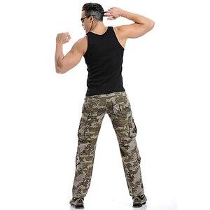 Image 4 - 2020 באיכות גבוהה גברים של מכנסיים מטען מזדמן רופף כיס רב צבאי מכנסיים ארוך מכנסיים לגברים Camo רצים בתוספת גודל 28 40