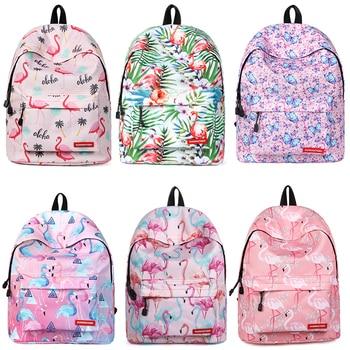 School Bag for Teenager Girls Women Laptop Backpack Flamingo Printing Bagpack Mochila Feminina Escolar Big Laptop Travel Daypack thikin mochila bts backpack for women pu leather rucksack teenager girls fashion rap monste bangtan boys mini bagpack daypack