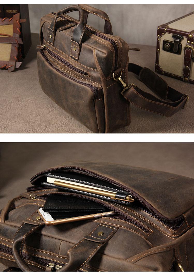 Hd4414ca43df2483ea5638e8087111133Q MAHEU Vintage Leather Mens Briefcase With Pockets Cowhide Bag On Business Suitcase Crazy Horse Leather Laptop Bags 2019 Design