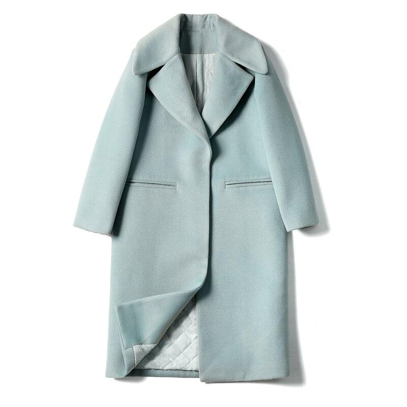 2019 New Ladies' jacket Fashion Single Breasted Slim Women Autumn Winter Wool Coat Long Wool Coat Spring Autumn Women Wool Coat 7