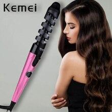 Kemei Magic Hair Curler Roller Spiral Curling Iron Salon Cur