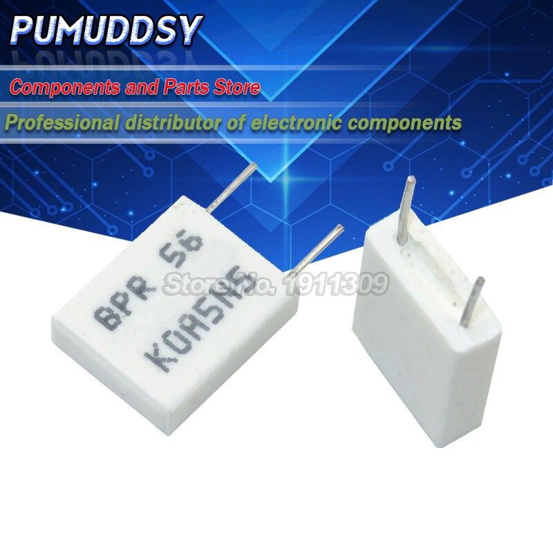 Неиндуктивный керамический цементный резистор BPR56 5 Вт 0,1 0,15 0,22 0,25 0,33 Ом, 0,5 R 0.15R 0.22R 0.25R 0.33R 0.5R, 10 шт.