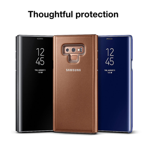 Image 4 - SAMSUNG Phone Case Original Vertical Mirror Protection Shell For Samsung Galaxy Note 9 Note9 N9600 N960f Phone Protective Cover
