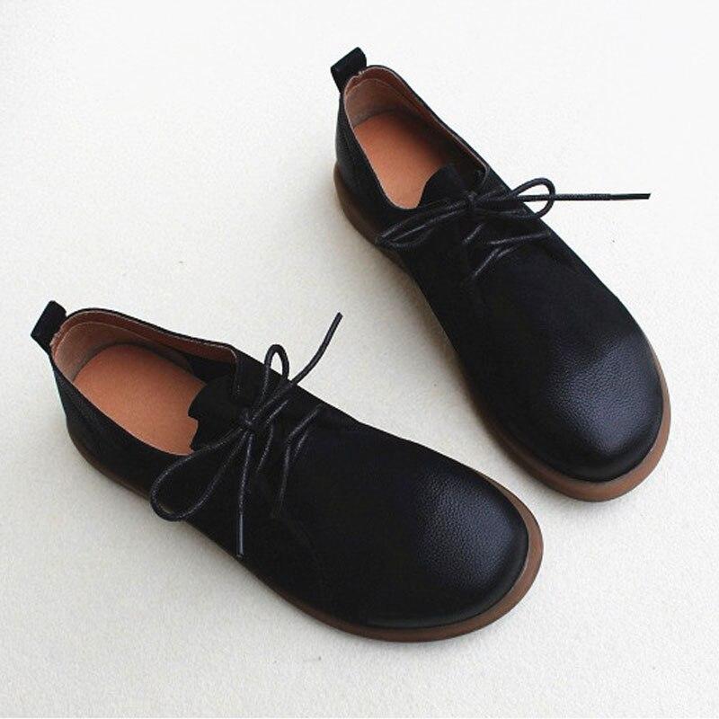 Zapatos de mujer 2020 Casual Oxford zapatos 100% de cuero genuino zapatos planos de mujer con cordones zapatos planos negros calzado de mujer ¡Novedad de 2019! Zapatillas de playa a la moda para mujer, sandalias gruesas con lazo tipo cruz, zapatillas planas de viaje al aire libre con grano de leopardo