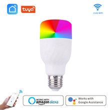 Hoilday Wifi Smart Light Bulb 7W RGBW Intelligent Colorful LED Lamp APP Dimmable Works With Alexa Google For Smart Home E27 E26