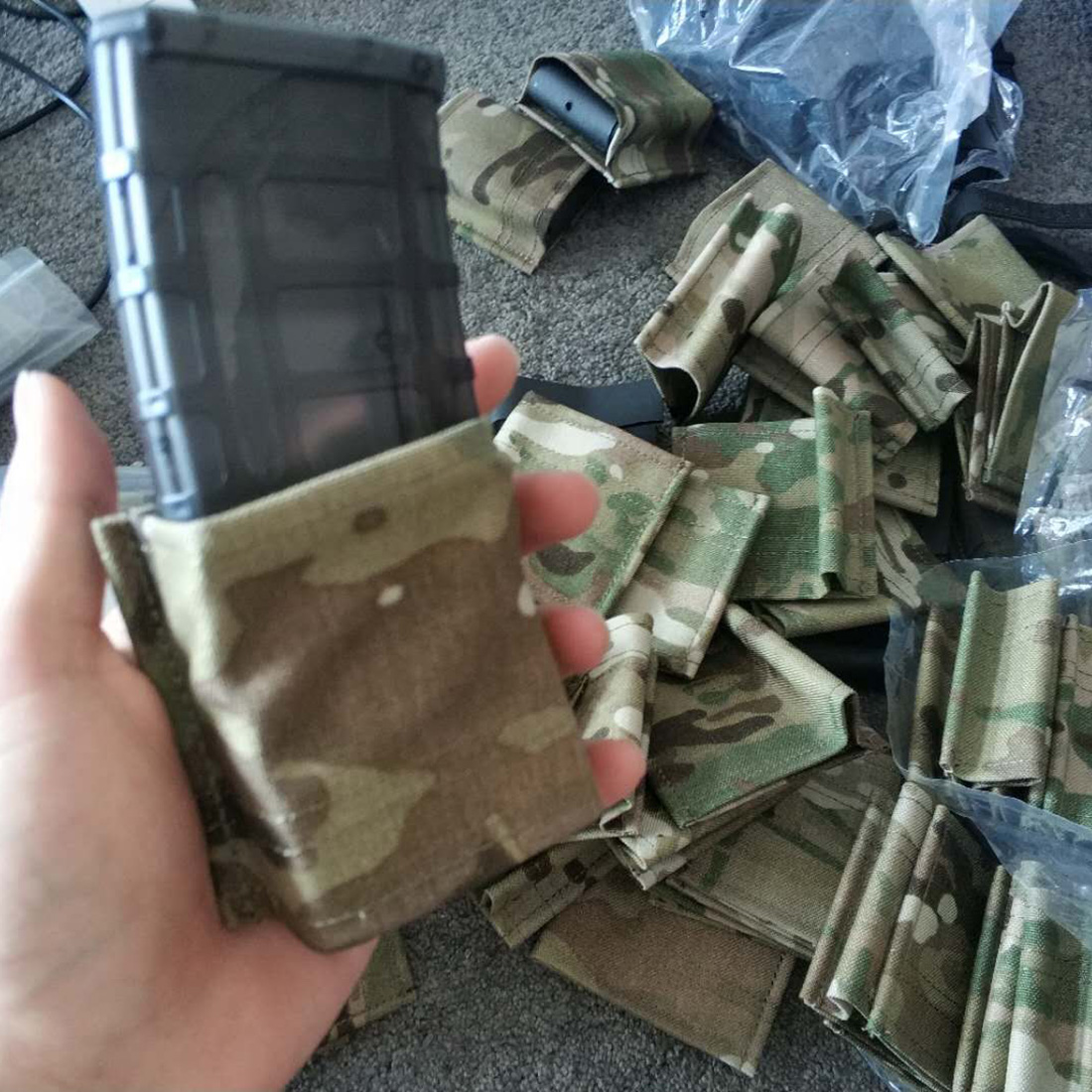 BF KYWI 5.56 Single Magazine Pouch Holster Mag Holder Outdoor Hunting Tactical Nylon Mag Pouch For Airsoft 5.56