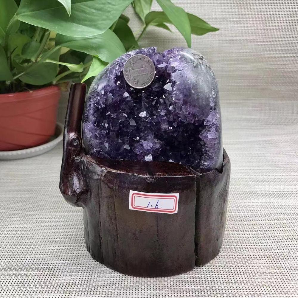 Ev ve Bahçe'ten Taşlar'de Doğal Ametist Geode Kristal Kuvars Ametist Küme doğal taşlar'da  Grup 1