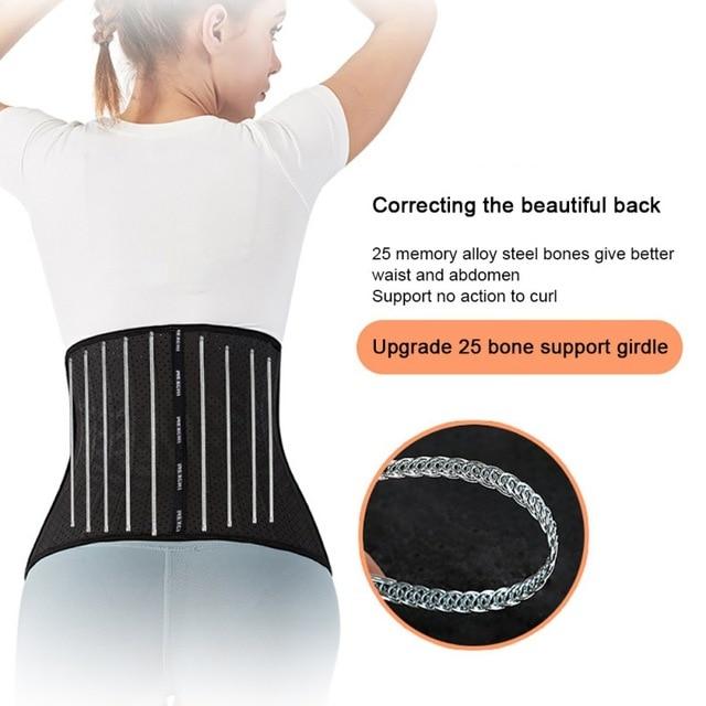 Women Waist Cincher Trimmer Back Support Sweat Crazier Slimming Body Shaper Waist Trainer Belt For Weight Loss Fitness Exercises 3
