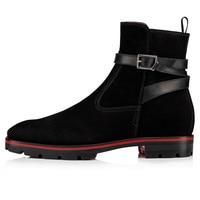 Black Suede Leather Men Ankle Casual Boots Slip On Low Top Men Boots Fashion Belt Cross Strap Ankle Boots Men