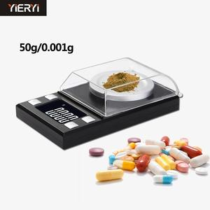 Yieryi LCD Digital 0.001g Jewelry Called High-precision Portable Medicine Laboratory Weight Milligram Electronic Scale(China)