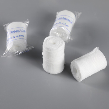 Cotton PBT Elastic Bandage Skin Friendly Breathable First Aid Kit Gauze Wound Dressing Medical Nursing Emergency Care Bandage 2