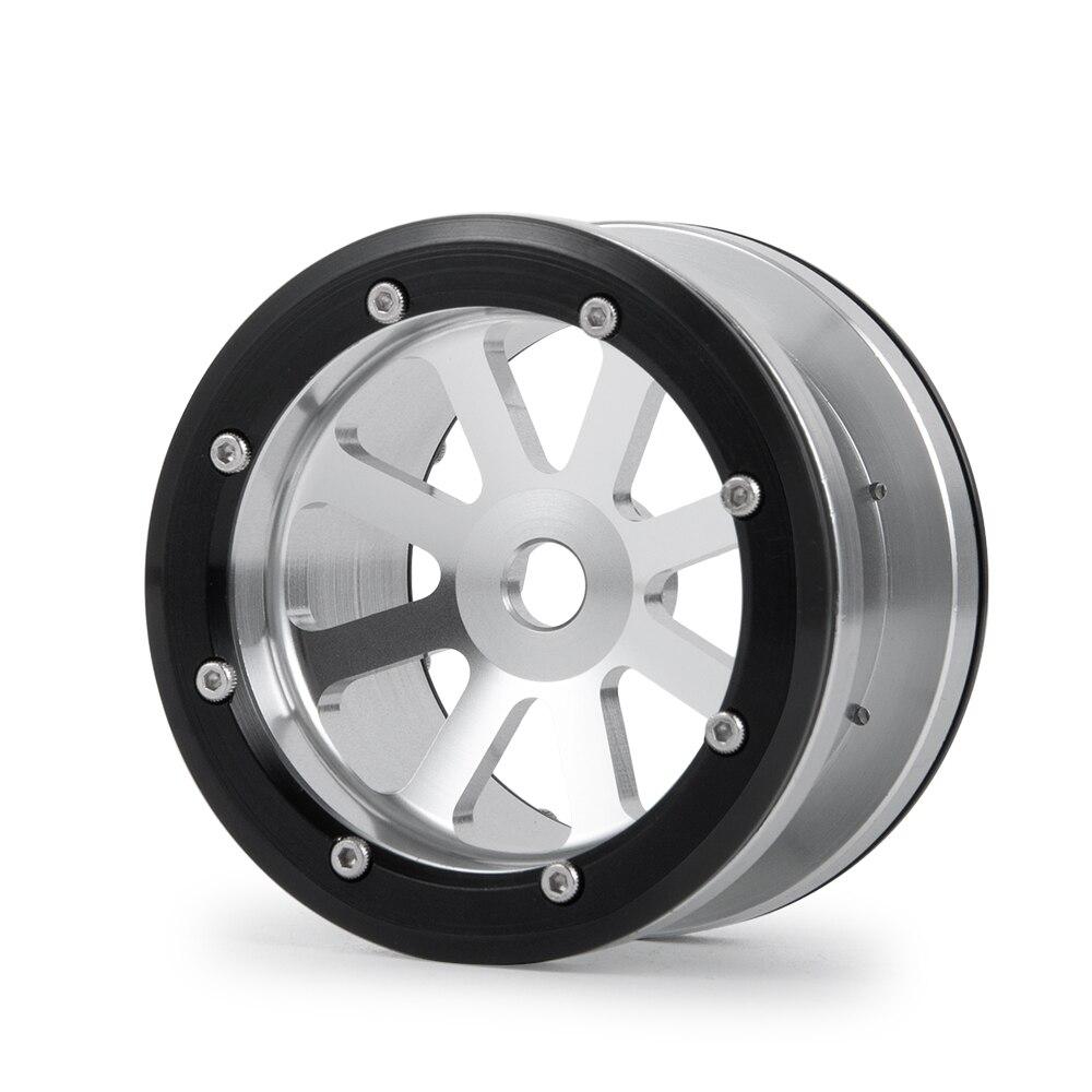 AXSPEED 1/4pcs 2.2inch Alum Beadlock Wheel Rims For 1/10 4WD D90 SCX10 TRX4  Axial Wraith 90018 RC Crawler