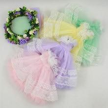 Vestiti per Blyth bambola colorato abito da sposa con velo 1/6 30 centimetri di ghiaccio misto pizzo vestito della ragazza regalo