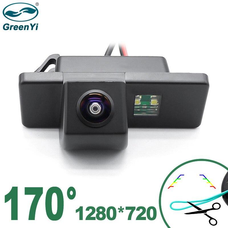 Greenyi 170 ° 1280x720p hd ahd visão noturna veículo câmera de visão traseira para nissan qashqai X-TRAIL citroen c4 c5 peugeot 307 carro