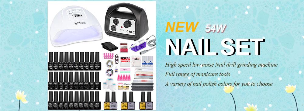 LNWPYH 54w Nail Kit