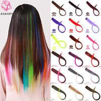 MUMUPI Connect coloré cheveux raides perruques Clip pièce épingle à cheveux fête discothèque Cosplay femmes filles accessoires de cheveux décoratifs