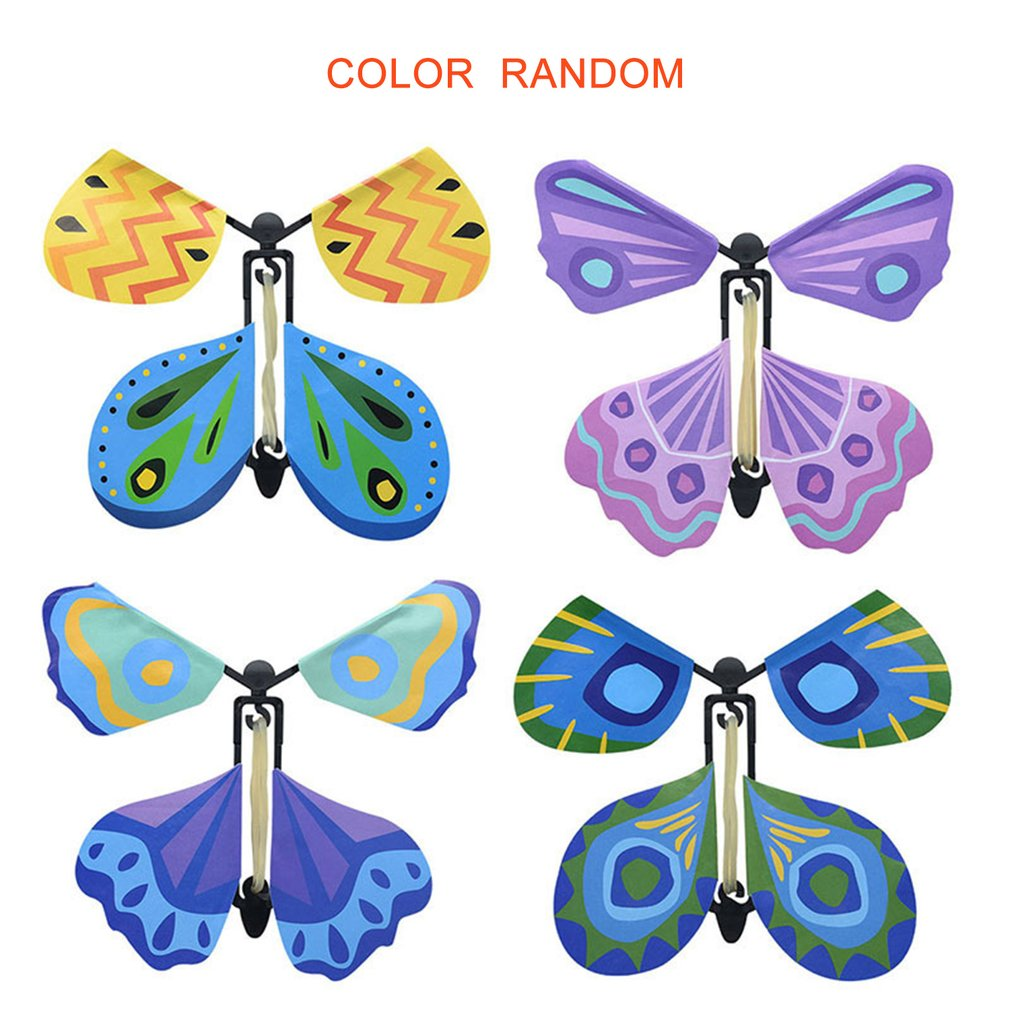 Creative Flying Butterfly Novel Children Magic Props Toy For Kids Funny Games Gadgets Educational Toy Random Color