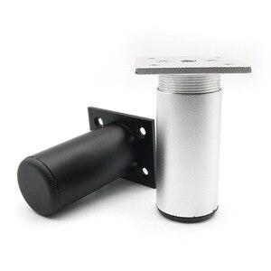 Image 2 - Zagęścić regulowany meble z aluminium nogi szafka stopę 6 30CM szafka TV nogi podporowa łazienka szafka nogi sofa stopy zestaw 4