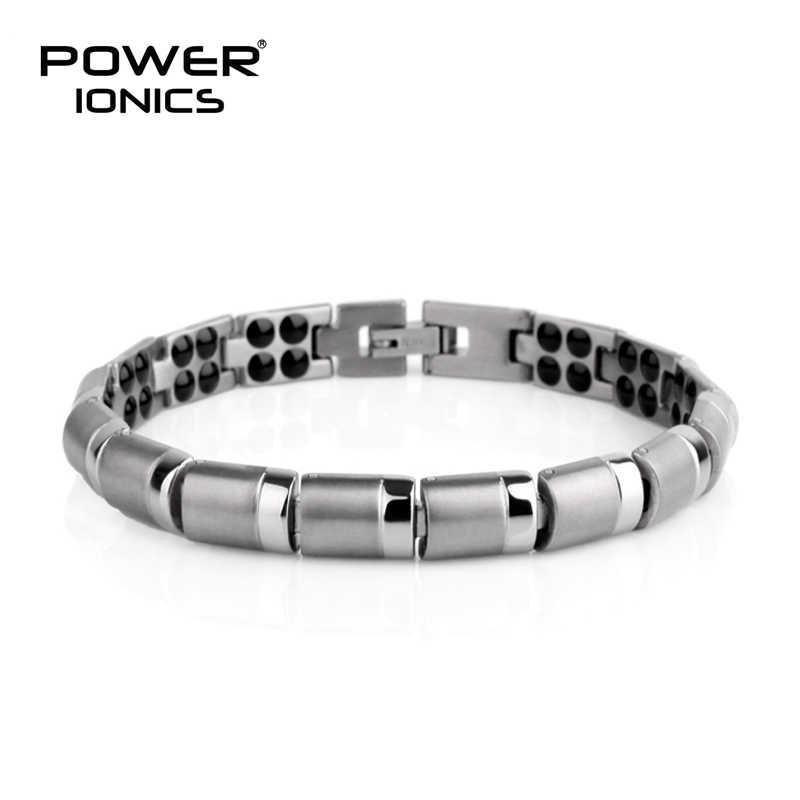 Power Ionics ไทเทเนี่ยม 99.999% Germanium สร้อยข้อมือลูกปัด BALANCE BODY