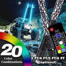 Mât de drapeau Led RGB à couleurs changeantes pour SUV ATV UTV RZR, tout-terrain, Buggy, jungle, 3 pieds, 4 pieds, 5 pieds, 6 pieds en option