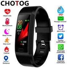 Akıllı bant spor takip saati bilezik IP67 su geçirmez akıllı bilezik kalp hızı kan basıncı ölçüm spor Smartband