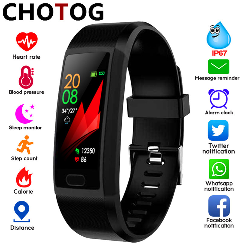 Smart Band Watch Fitness Tracker Bracelet IP67 Waterproof Smart Bracelet Heart Rate Blood Pressure Measurement Sport Smartband