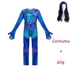 Image 2 - Costume Cosplay Evie pour filles, 3 Descendants de mode, robe pour filles, uniforme mal, Costume de carnaval dhalloween, combinaisons pour enfants