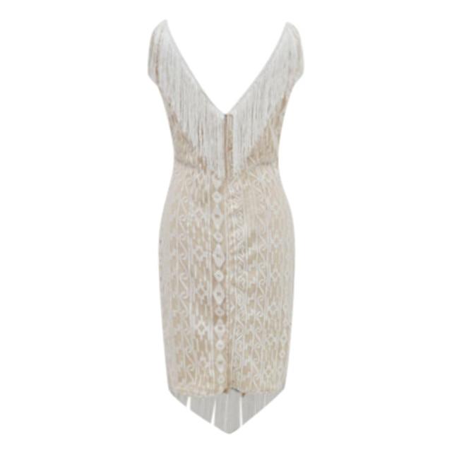 1920s Diamond Sequined Embellished Fringed Great Gatsby Flapper Dress Retro Tassle Croche Midi Party Dress Ukraine Vestidos#J30 3