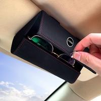 Caja de almacenamiento para gafas de coche, soporte para gafas de sol, para Mercedes benz Clase A, B, R, G, GLK, GLA, w204, W251, W463, W176