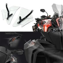 For KTM 1290 SUPER ADVENTURE R S T 1090 ADV Motorcycle Shroud Windshield Windscreen Side Wind Deflector HandShield Handguard