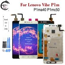 """Pour Lenovo Vibe P1m LCD P1ma40 P1mc50 affichage avec cadre écran tactile capteur numériseur assemblée pour LENOVO P1m affichage 5.0"""""""